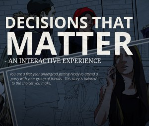 Decisions that Matter: Responding to sexual violence online: Rape Preventative games and online reporting of sexual assault