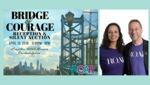 Philadelphia tech-based business, ROAR for Good Co-Founders, Yasmine Mustafa and Anthony Gold,  announced as the Recipient of Women Organized Against Rape's 2018 Bridge Of Courage Award.
